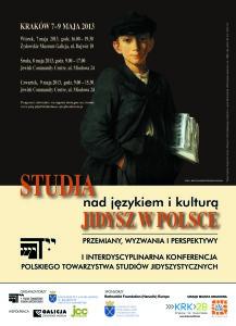 Plakat - Studia nad językiem i kulturą jidysz